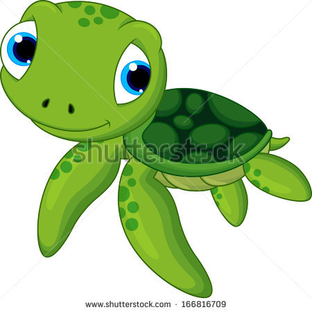 Turtle clipart silly #1