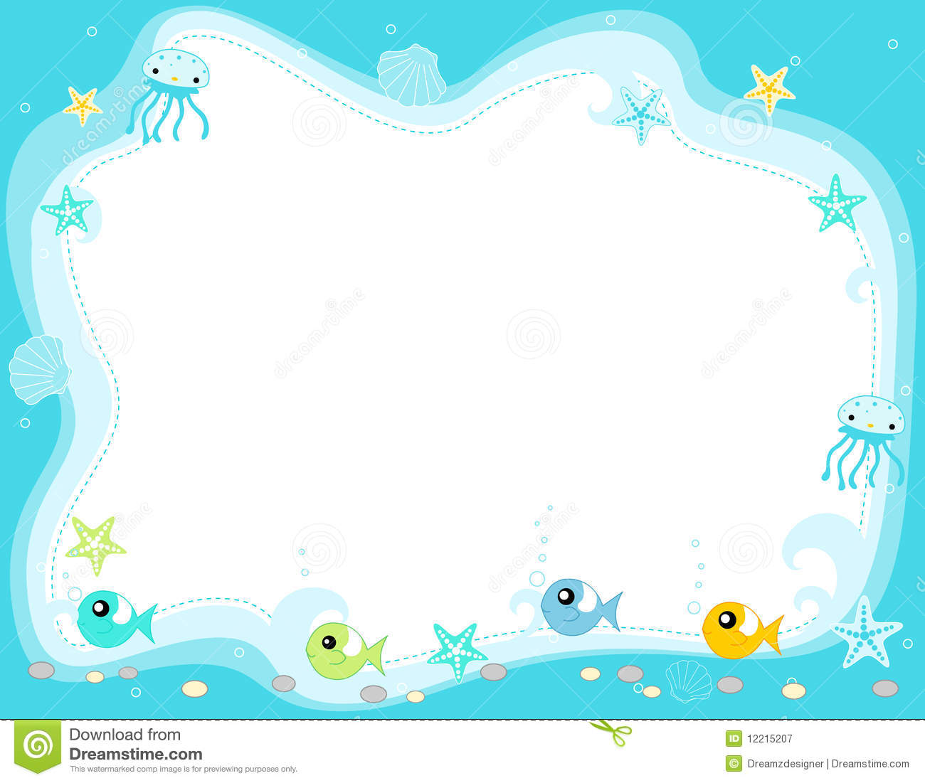 The Sea clipart border Fish Marine With  With