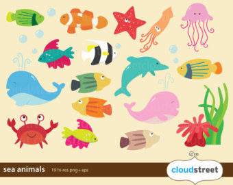 The Sea clipart underwate animal Etsy and art clipart 20%