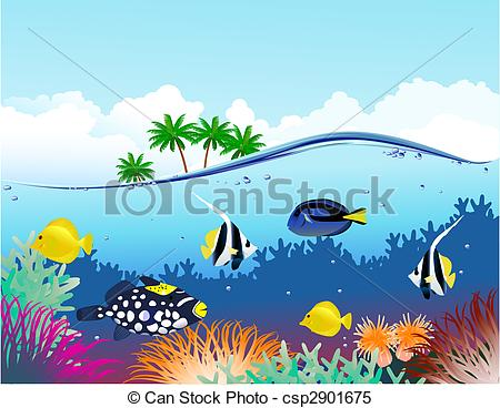 Marine Life clipart underwater Water life Under Art Search