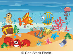 Marine Life clipart underwater Sea Sunken and Art and