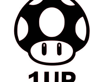 Mario clipart 1up 1up Brothers 1Up Mario Decal