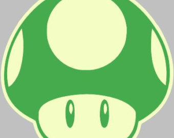Mario clipart 1up Etsy decal 1Up/Super Super Shroom