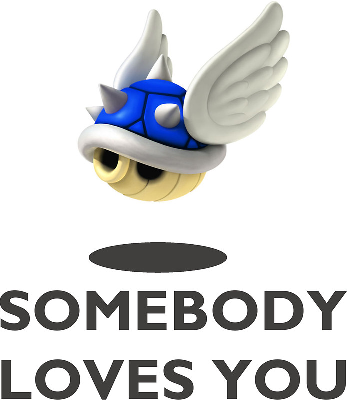 Mario clipart blue shell By Stickers Shell Kart Blue