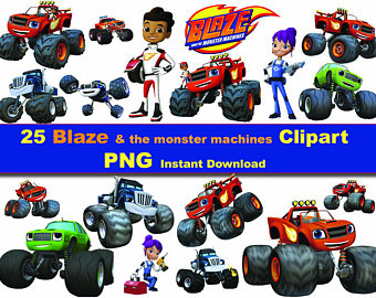 Mario clipart car Blaze printable Digital the DL