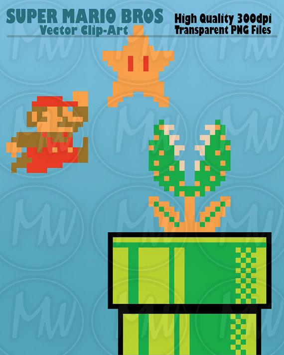 8 Bit clipart super mario bro Is a Pixels Vector file