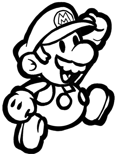 Mario clipart easy Mario Draw to How or