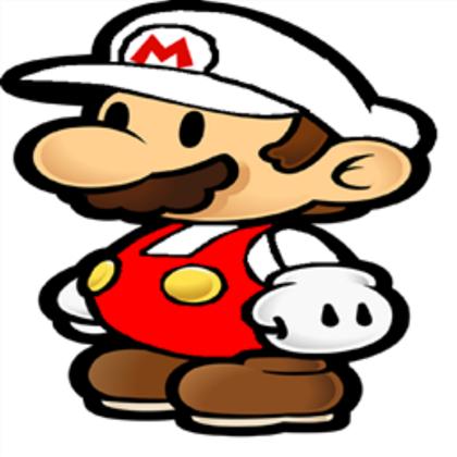 Mario clipart fire ROBLOX Fire Mario Paper Mario