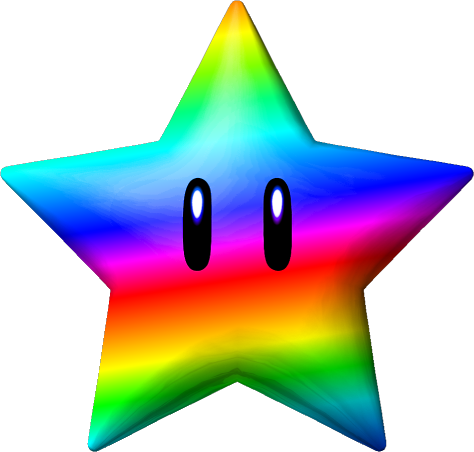 Mushroom clipart mario star Galactic Mario The shiny Super
