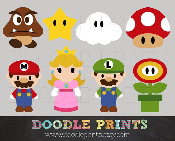 Mario clipart mario character Ideas digitales Pinterest on etc