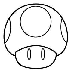 Mushroom clipart mario star Color Pinterest Letters Mushrooom for