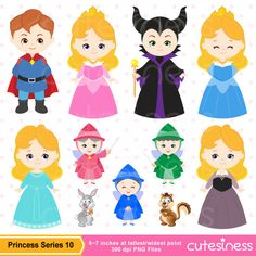 Beautiful clipart cute princess Clipart Princess Digital para