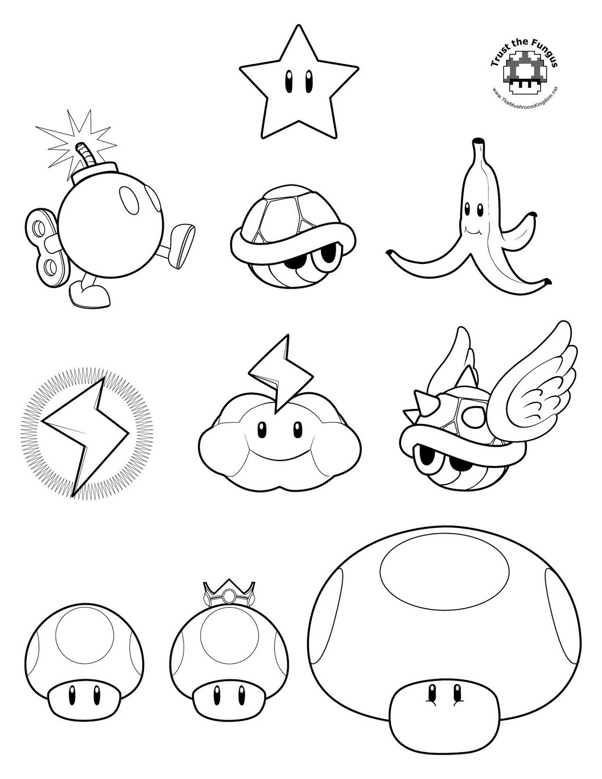 Mario clipart outline Pages  In white Mario