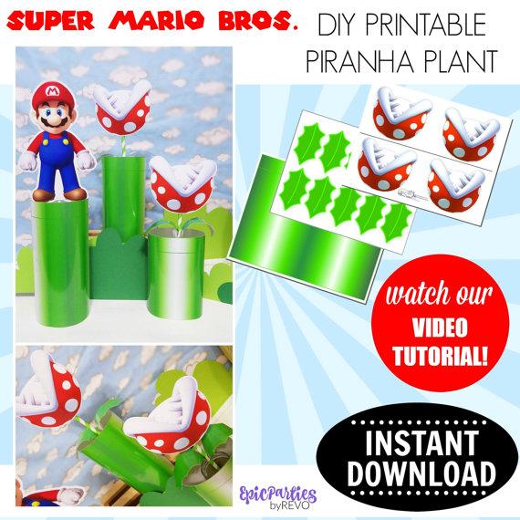 Mario clipart piranha plant Piranha Super DOWNLOAD Bros Printable