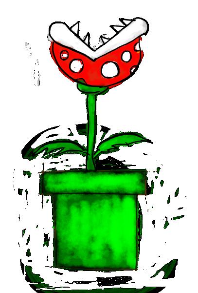 Mario clipart piranha plant Piranha step5 Mario)? to draw