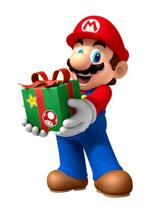 Mario clipart simple Clip 26 Present Christmas mario