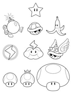 Mario clipart simple Pages Game Coloring Pop Bros