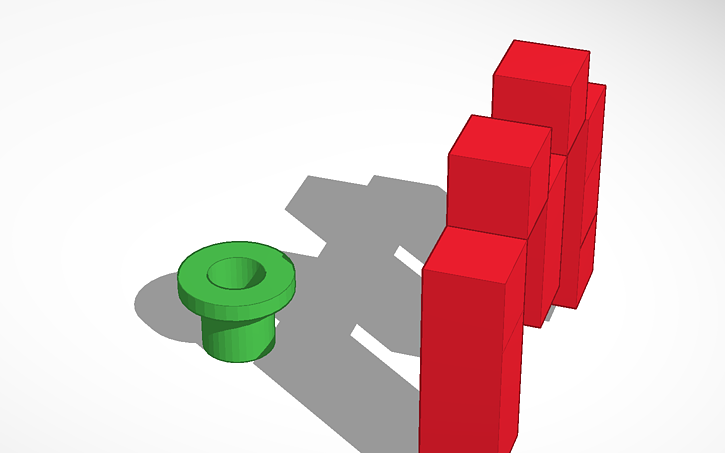 Mario clipart tube Design Tinkercad View 3D and