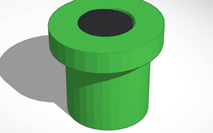 Mario clipart tube Design View 3D Tinkercad Tube