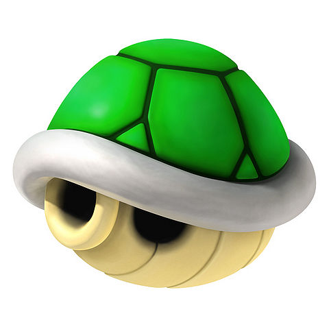 Mario clipart turtle shell Kart Mario kart green from