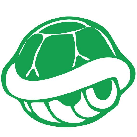 Mario clipart turtle shell Decal Wall $4 Mario best