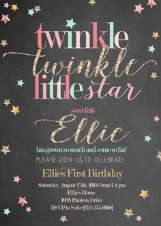 Mario clipart twinkle twinkle little star Little Invitation Nursery Twinkle and