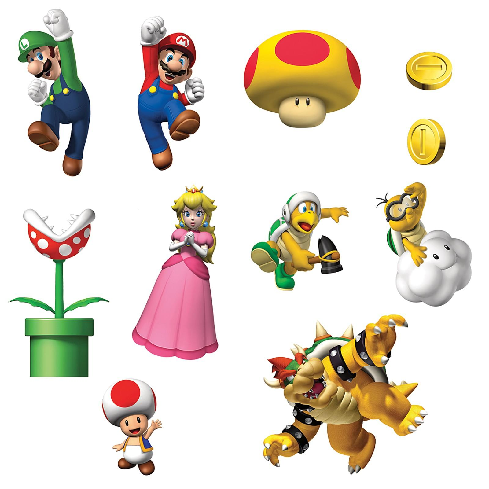 Mario clipart wall Mario Super com Bros Removable