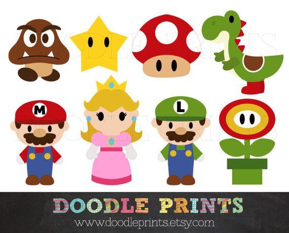 Mario clipart wall Best USE Super etc Digital