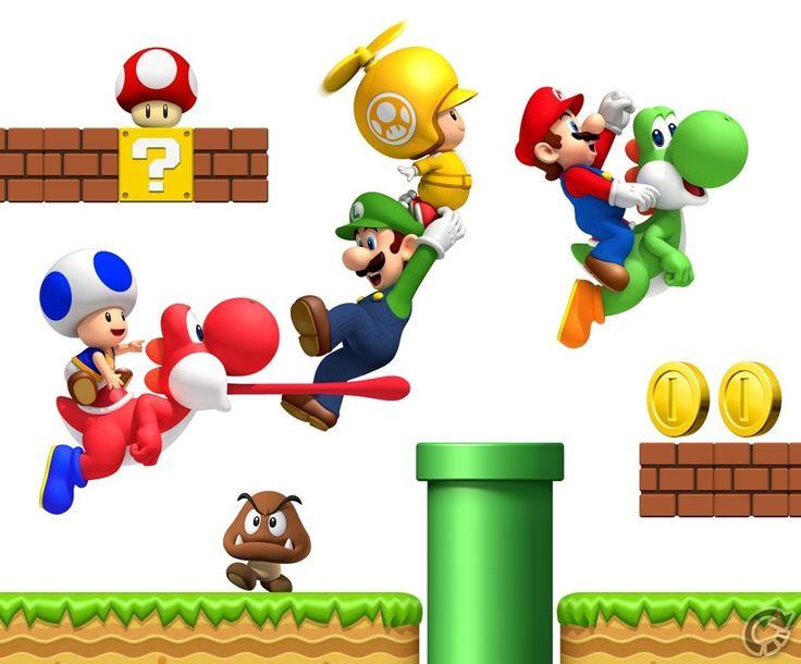 Mario clipart wall Ideas Bros Super mario wallpaper