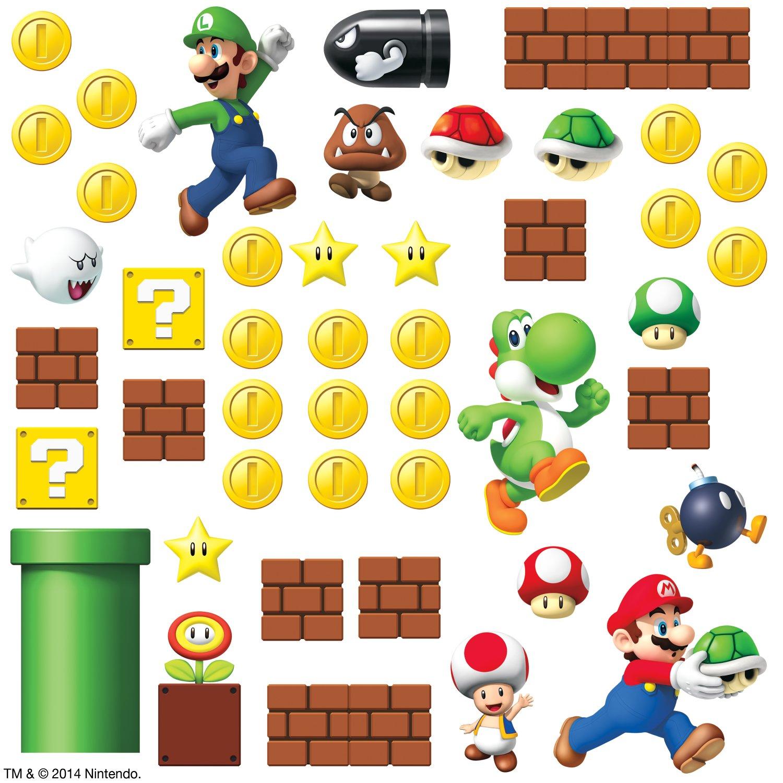 Mario clipart wall  Room Wall Decal Reviews