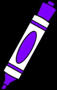 Marker clipart At clip  Marker Purple