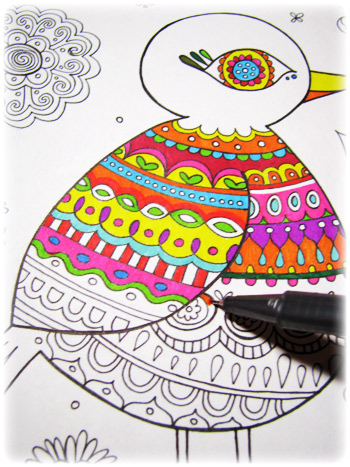 Marker clipart coloring Coloring Pages Art and Folk