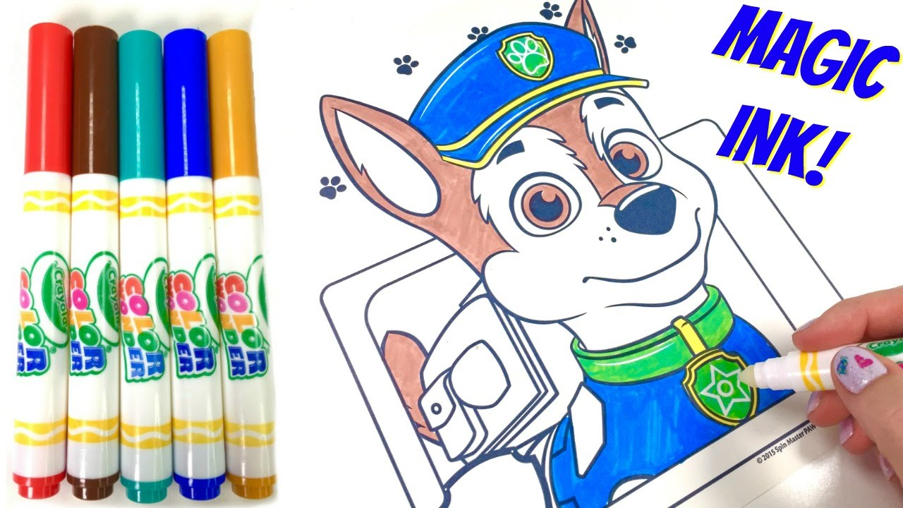 Marker clipart coloring Marker Magic Patrol Coloring Chase
