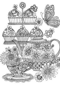 Marker clipart coloring Plena Colorista Noir Pad Hearts