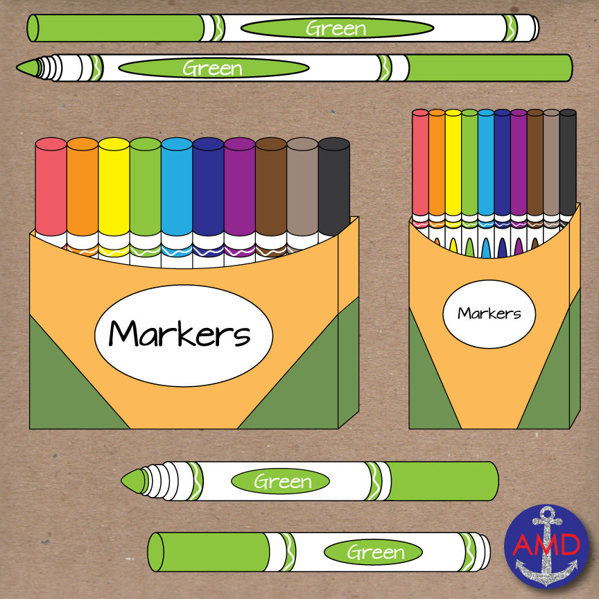 Marker clipart free school supply #12