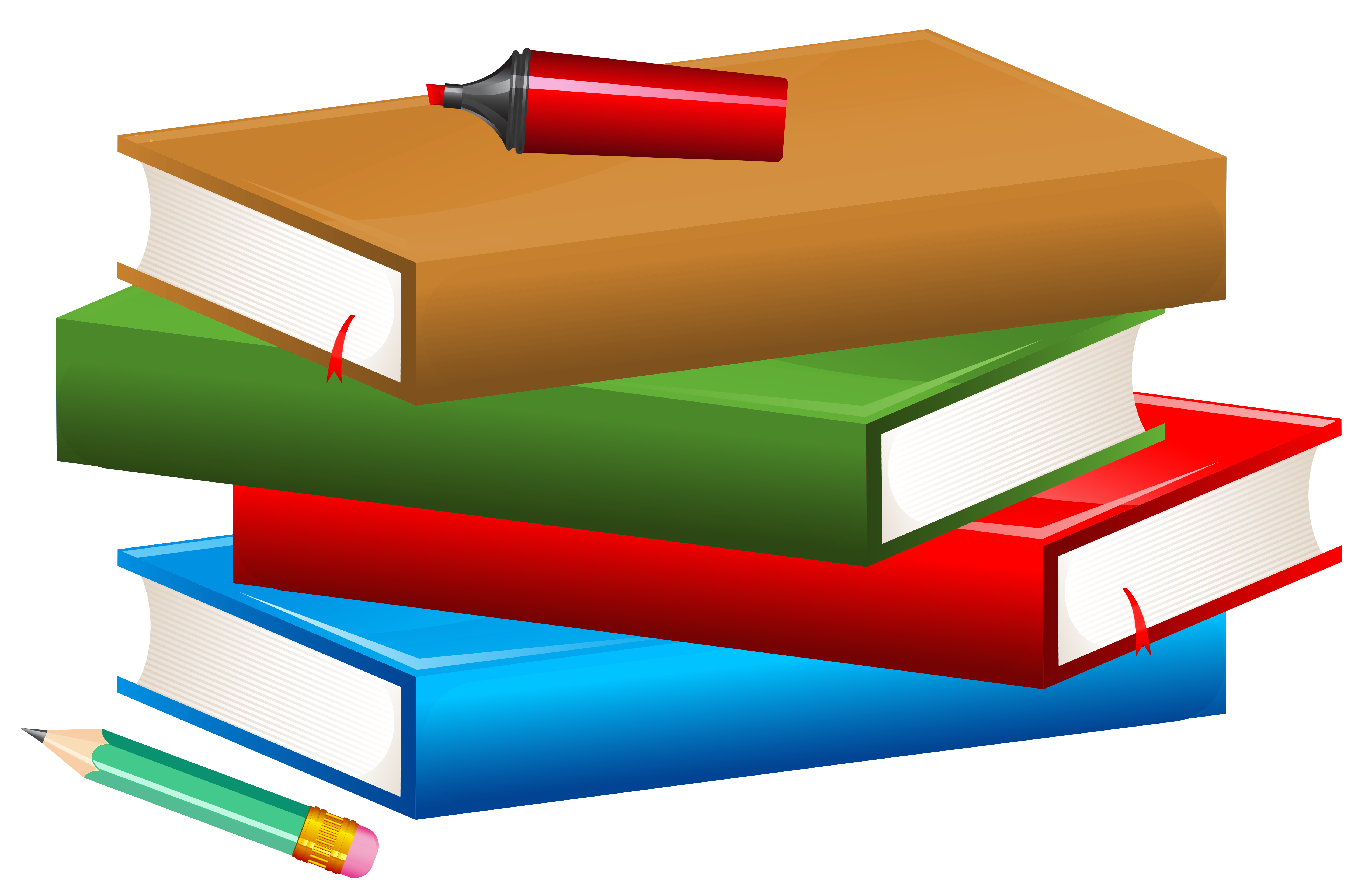 Marker clipart school And Books size Clipart full