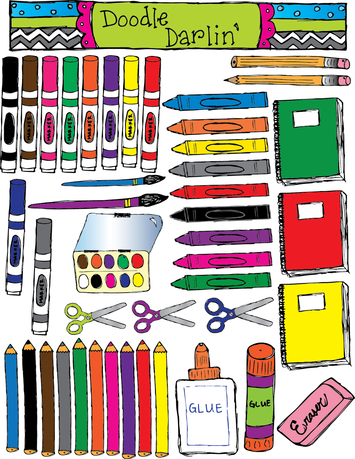 Marker clipart school Darlin': For Tools Tools and