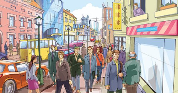 Market clipart crowded street By  Creative and Crowd