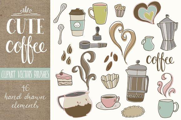 Coffee clipart cute Art on Art ~ Clip