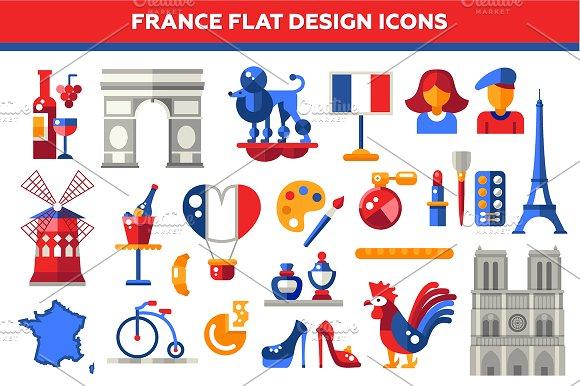 Market clipart france Flat Creative Market Design Icons