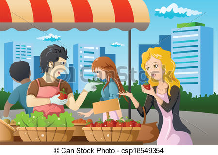 Market clipart illustration Market vector in People People