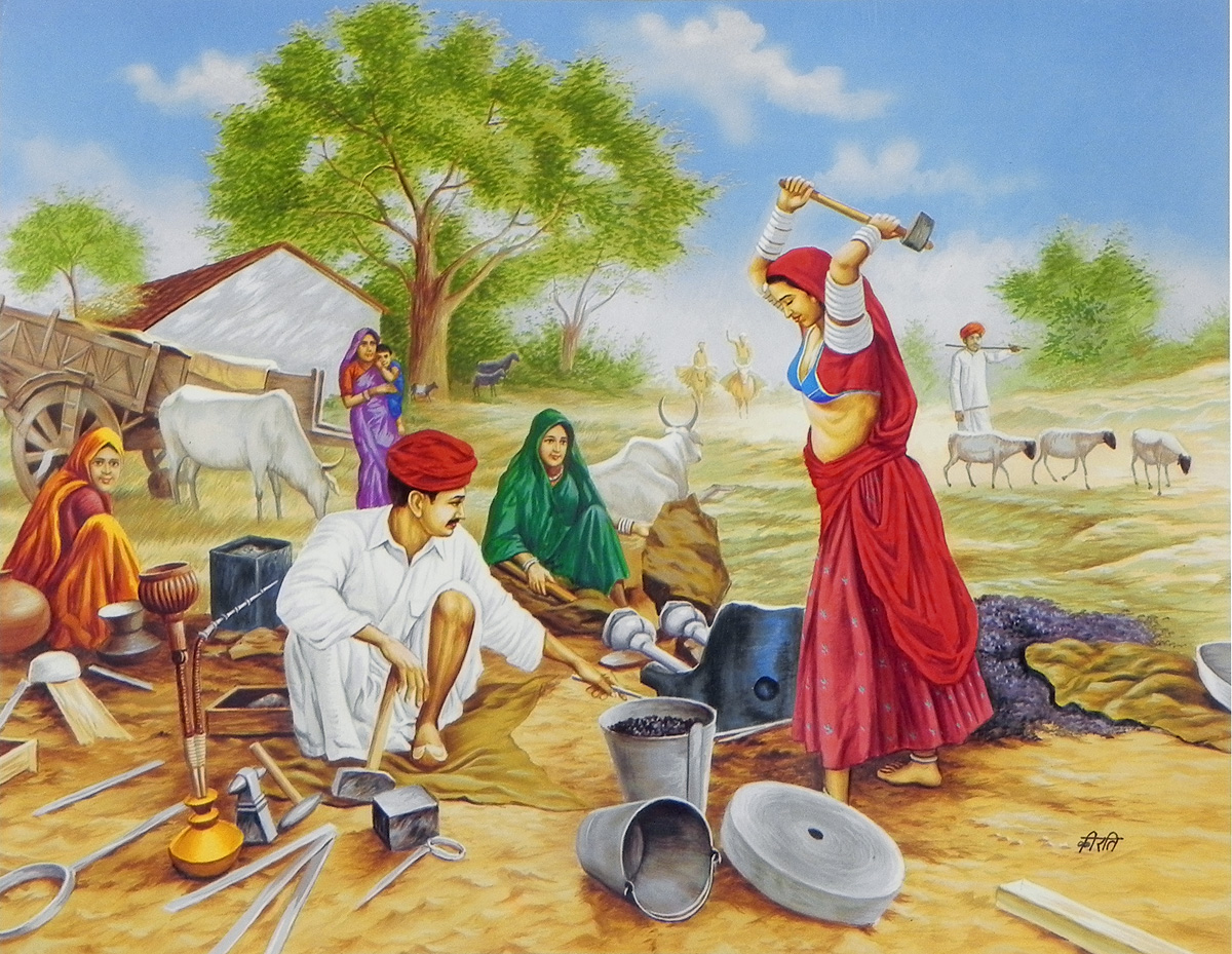 Market clipart indian village Village indian life life indian