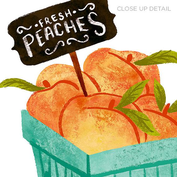 Market clipart organic food Food Digital Download MARKET Illustration