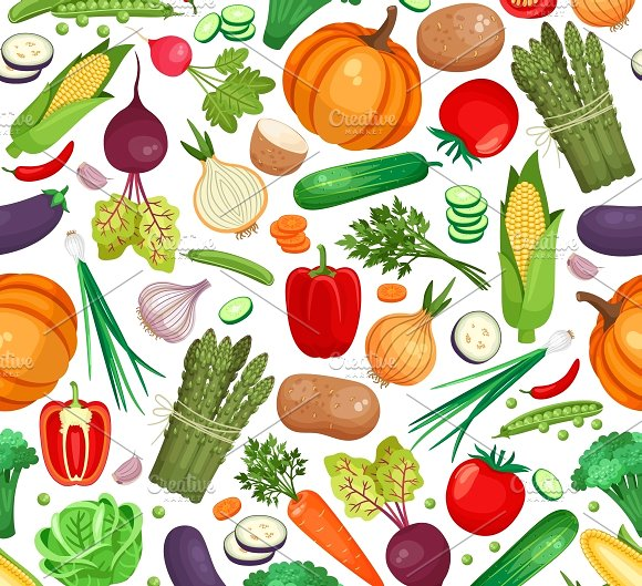 Market clipart vegitable Food ~ Patterns Vegetable food