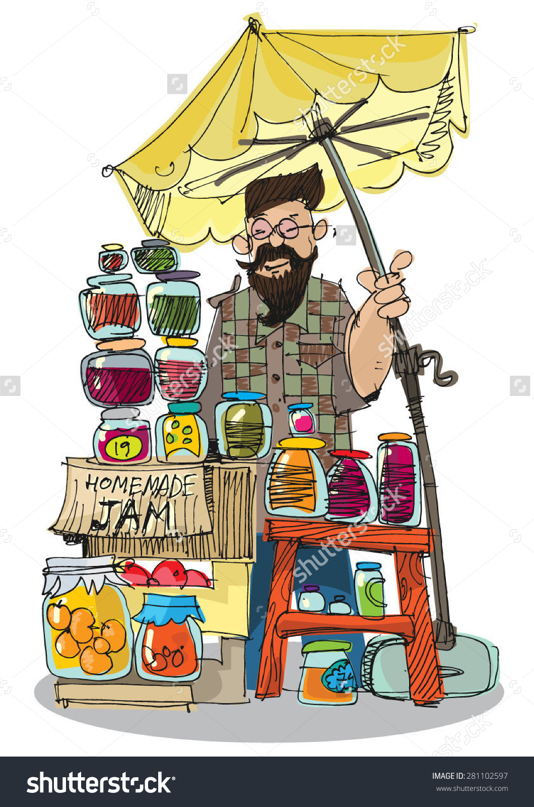 Market clipart street market Market street Clipart market The