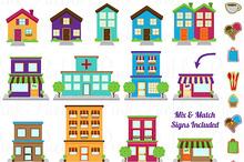 Market clipart town centre Clipart Art Clip – City
