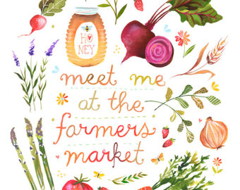 Market clipart vegitable At Kitchen Wall Farmers Print