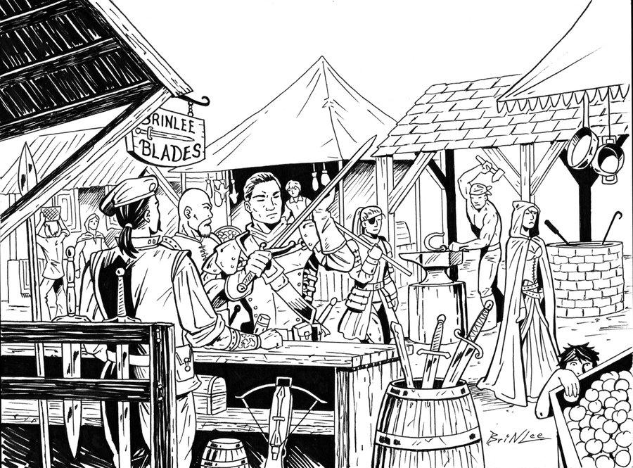 Market clipart village market On RPG DeviantArt Village Piece