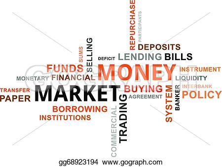 Market clipart word EPS market A Vector Vector