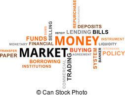 Market clipart word Word of money market A